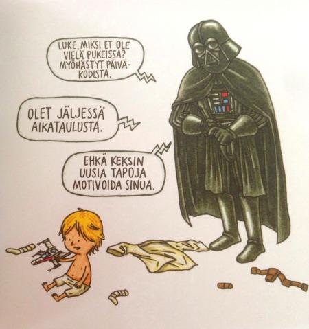 "Jeffrey Brownin kirjasta ""Darth Vader ja poika""."