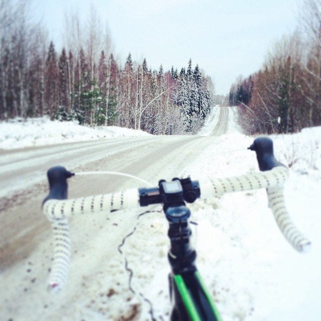 Joulukuisella cyclocrossari-lenkillä.